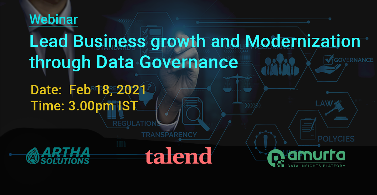 Data Governance Webinar | Artha Solutions | Amurta | Talend